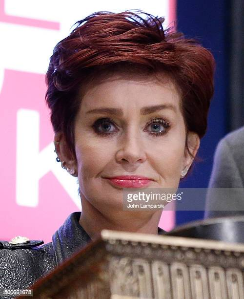 Sharon Osbourne of CBS' The Talk rings the closing bell at the New York Stock Exchange on December 9 2015 in New York City