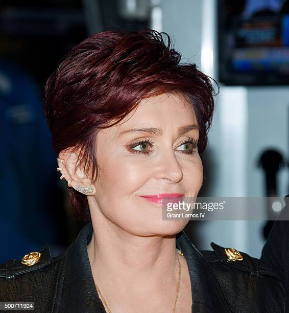 Sharon Osbourne of CBS' 'The Talk' rings the closing bell at the New York Stock Exchange on December 9 2015 in New York City