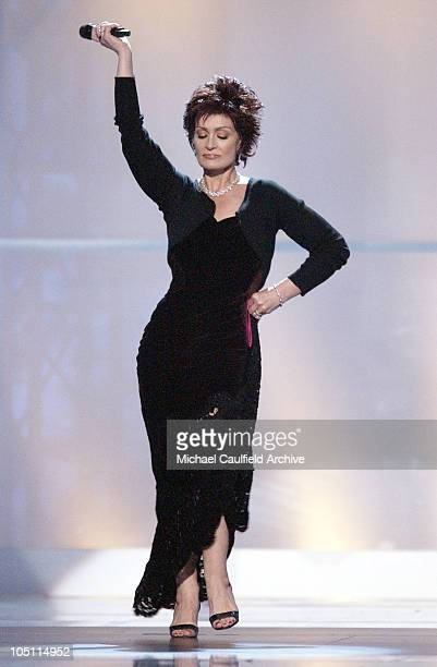 Sharon Osbourne onstage to announce the Born to Diva contest
