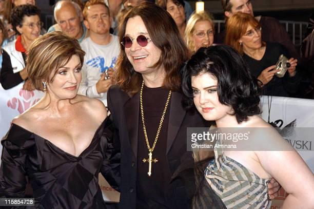 Sharon Osbourne Ozzy Osbourne and Kelly Osbourne during Swarovski Fashion Rocks for the Prince's Trust Red Carpet Arrivals at Forum Grimaldi in Monte...