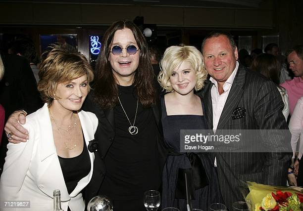 Sharon Osbourne Ozzy Osbourne their daughter Kelly Osbourne and entertainment business PR manager Gary Farrow attend the O2 Silver Clef Lunch an...