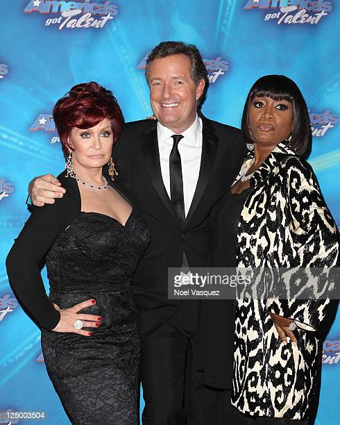 "Sharon Osbourne, Piers Morgan and Patti LaBelle attend NBC's ""America's Got Talent"" season finale at CBS Studios on September 14, 2011 in Los..."