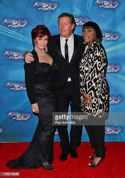 "Sharon Osbourne, Piers Morgan and Patti LaBelle attend the ""America's Got Talent"" season finale at CBS Studios on September 14, 2011 in Los Angeles,..."