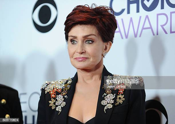 Sharon Osbourne poses in the press room at the 2016 People's Choice Awards at Microsoft Theater on January 6 2016 in Los Angeles California