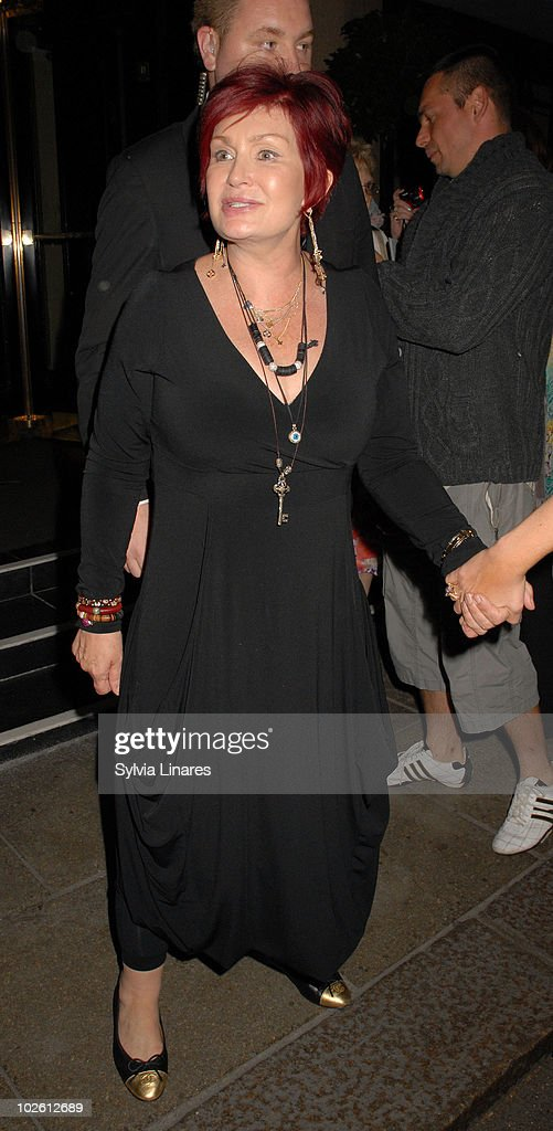 Sharon Osbourne sighting at their hotel on July 3, 2010 in London, England.