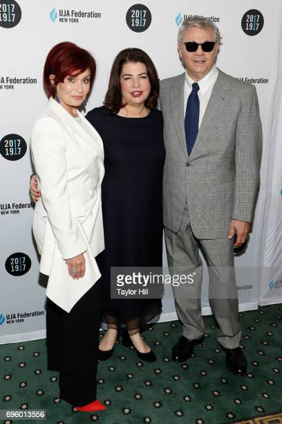 Sharon Osbourne Steve Miller and Michele Anthony attend the United Jewish Appeal Federation Of New York's 2017 Music Visionary Of The Year Award...