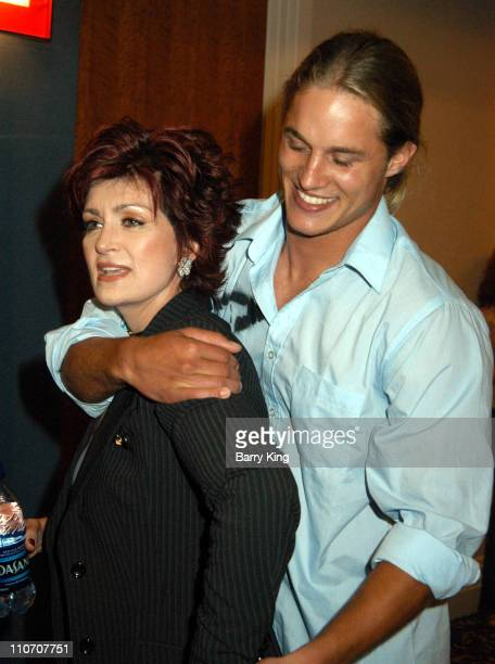 Sharon Osbourne & Travis Fimmel during The WB Presentation at Television Critics Association - Inside at Renaissance Hotel in Hollywood, California,...
