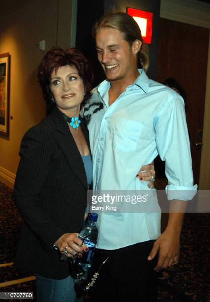 Sharon Osbourne Travis Fimmel during The WB Presentation at Television Critics Association Inside at Renaissance Hotel in Hollywood California United...
