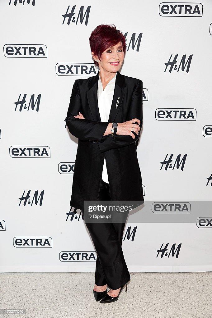 "Sharon Osbourne Visits ""Extra"""