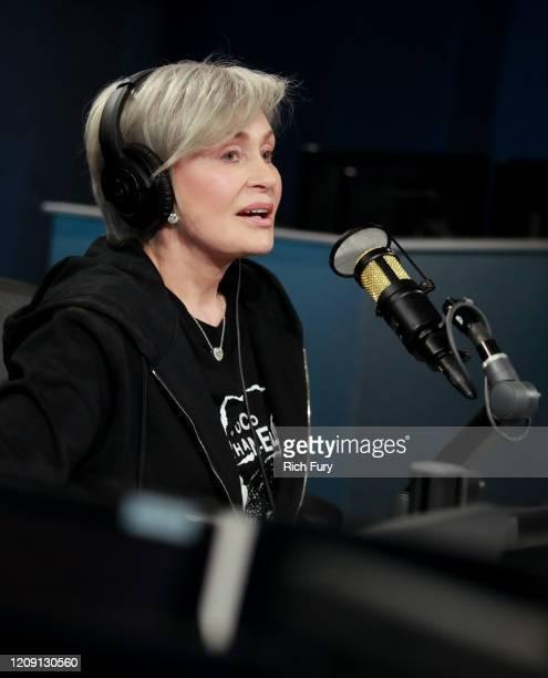 Sharon Osbourne visits the SiriusXM Hollywood Studio on February 27, 2020 in Los Angeles, California.