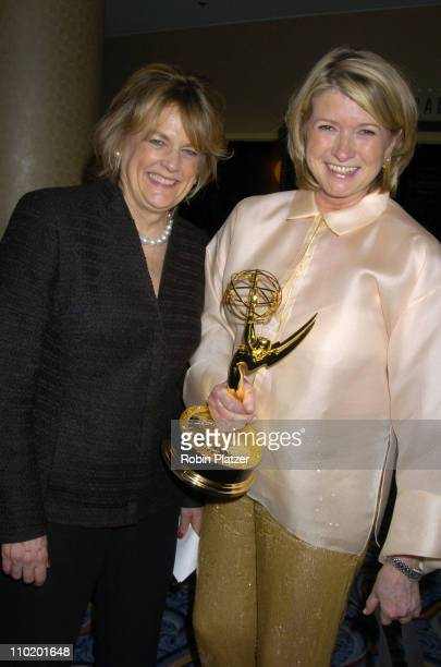 Sharon Patrick and Martha Stewart during 31st Annual NATAS Daytime Emmy Craft Awards at The Marriott Marquis Hotel in New York, New York, United...
