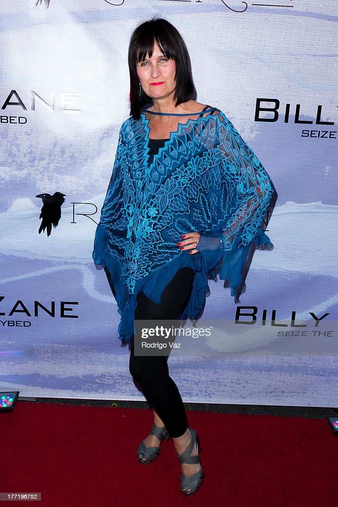 Sharon Peirce attends the artist's reception for Billy Zane's solo art exhibition 'Seize The Day Bed' on August 21, 2013 in Los Angeles, California.