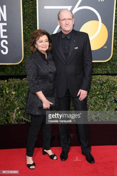 Sharon R Friedrick and actor Richard Jenkins attends The 75th Annual Golden Globe Awards at The Beverly Hilton Hotel on January 7 2018 in Beverly...