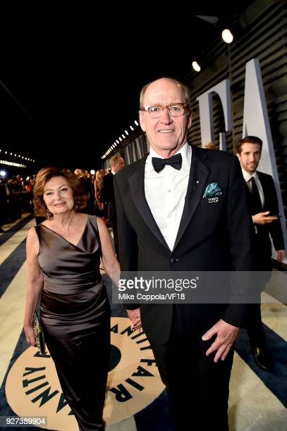 Sharon R Friedrick and Richard Jenkins attend the 2018 Vanity Fair Oscar Party hosted by Radhika Jones at Wallis Annenberg Center for the Performing...
