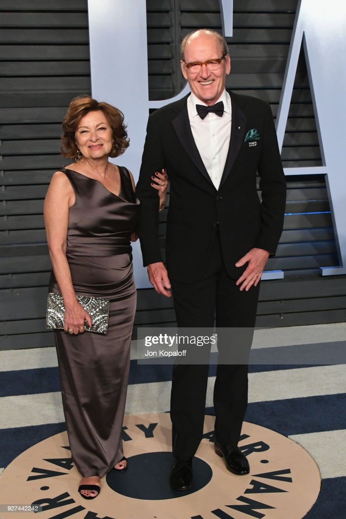 Sharon R. Friedrick (L) and Richard Jenkins attend the 2018 Vanity Fair Oscar Party hosted by Radhika Jones at Wallis Annenberg Center for the Performing Arts on March 4, 2018 in Beverly Hills, California.