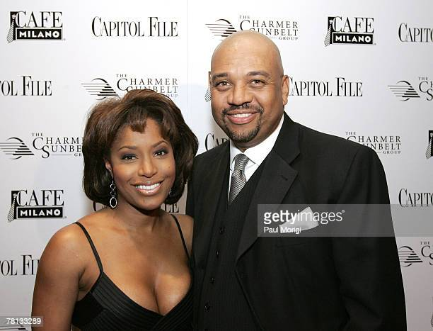 Sharon Reed and Michael Wilbon at Capitol File Magazine's White House Correspondents Dinner after-party at Cafe Milano