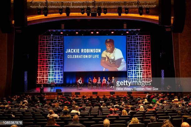 Sharon Robinson daughter of Jackie Robinson former Boston Red Sox pitcher Pedro Martinez former Boston Red Sox player Tommy Harper Boston Red Sox...