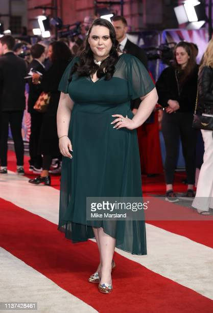 Sharon Rooney attends the 'Dumbo' European premiere at The Curzon Mayfair on March 21 2019 in London England
