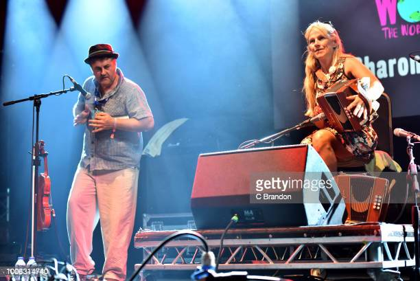 Sharon Shannon performs on stage during Day 2 of the Womad Festival 2018 at Charlton Park on July 27, 2018 in Malmesbury, Wiltshire, England.