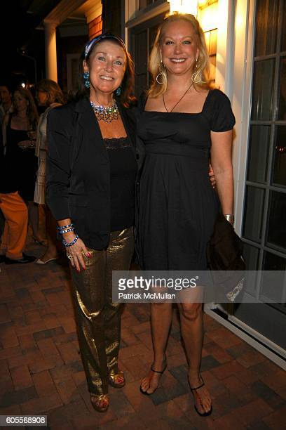 Sharon Sondes and Nina Griscom attend Bettina Zilkha Lucy and Euan Rellie Kick Off the Summer Dinner at Cain Estate on May 26 2006 in Southampton NY