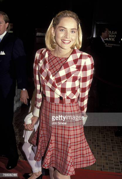 Sharon Stone and at the Avco Cinema in Westwood California