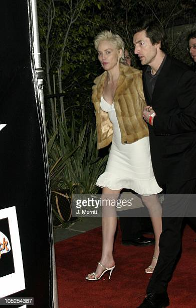 Sharon Stone and Bernie Cahill during The 46th Annual Grammy Awards Outkast Speakerboxxx After Party at Private Location in Beverly Hills California...