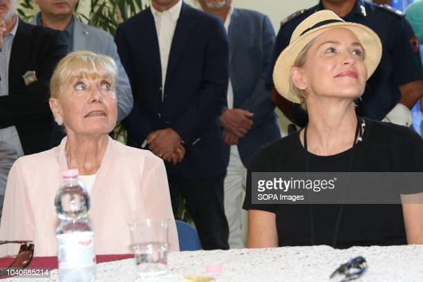 MATERA ITALY MATERA ITALY Sharon Stone and Betty Williams seen during her visit to Basilicata The actress attended a fundraising charity dinner at...