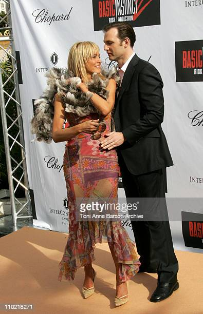 Sharon Stone and David Morrissey during 2005 Cannes Film Festival Basic Instinct 2 Risk Addiction Photocall in Cannes France