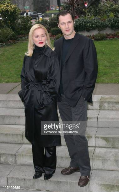 Sharon Stone and David Morrissey during Basic Instinct 2 Risk Addiction London Photocall at Four Seasons Hotel in London Great Britain