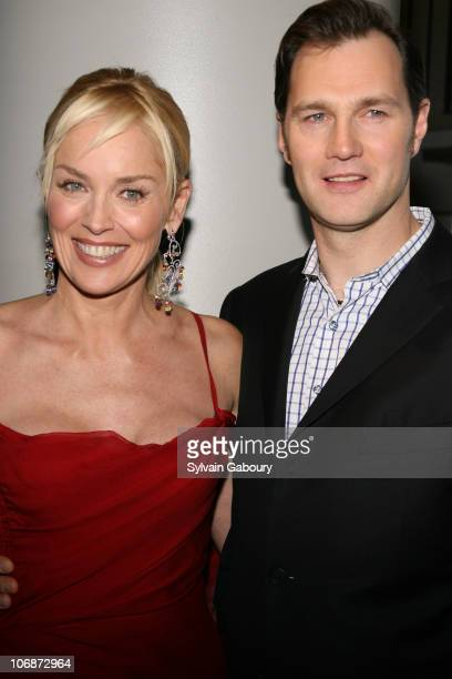 Sharon Stone and David Morrissey during The Cinema Society and Dior Beauty presented MGM Pictures and Sony Pictures World Premiere of Basic Instinct...