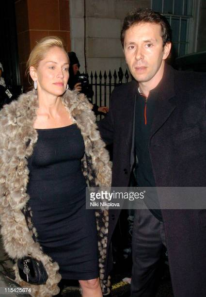 Sharon Stone and Guest during Sharon Stone Sighting at The Cipriani Restaurant In London March 14 2006 at Cipriani Restaurant in London Great Britain