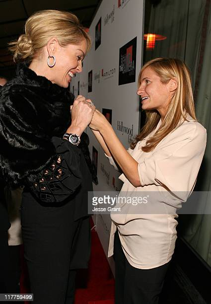 Sharon Stone and Holly Wiersma during Hamilton and Hollywood Life Behind The Camera Awards Red Carpet at The Highlands in Hollywood California United...
