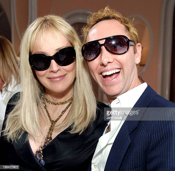 Sharon Stone and Ian Drew during 3rd Annual Hollywood Bag Ladies Lupus Luncheon at Beverly Hills Hotel in Beverly Hills California United States