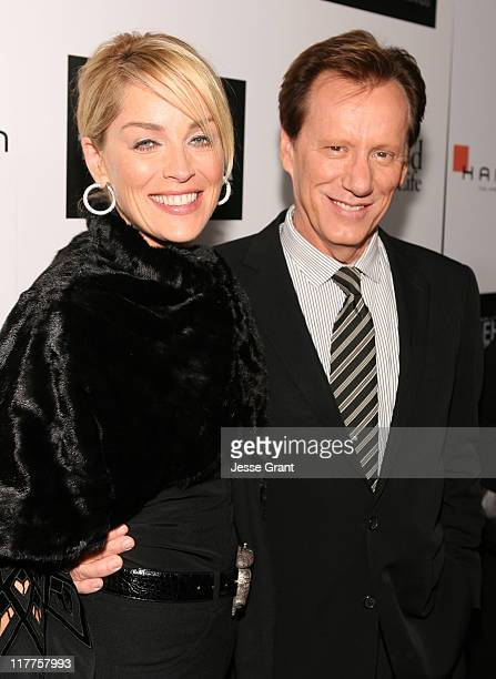 Sharon Stone and James Woods during Hamilton and Hollywood Life Behind The Camera Awards Red Carpet at The Highlands in Hollywood California United...