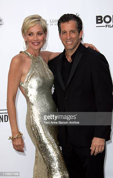 Sharon Stone and Kenneth Cole at amfAR's Cinema Against AIDS event presented by Bold Films the M*A*C AIDS Fund and The Weinstein Company to benefit...