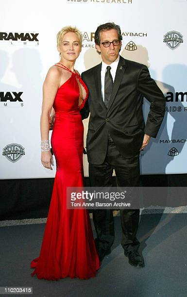 """Sharon Stone and Kenneth Cole during amfAR's """"Cinema Against AIDS Cannes"""" Benefit Sponsored by Miramax and Quintessentially - Arrivals at Moulin De..."""