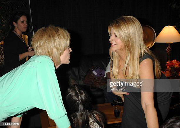Sharon Stone and Kirstie Alley during 5th Annual TV Land Awards Backstage at Barker Hangar in Santa Monica California United States