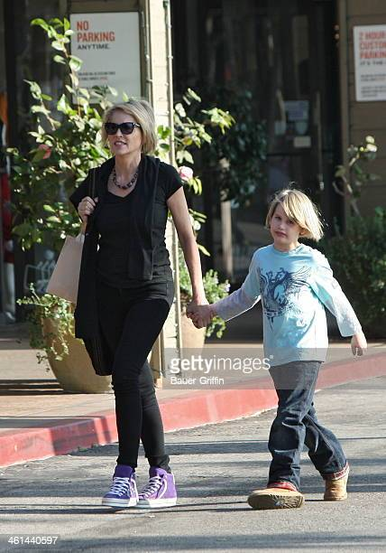 Sharon Stone and Laird Stone are seen on January 08 2014 in Los Angeles California