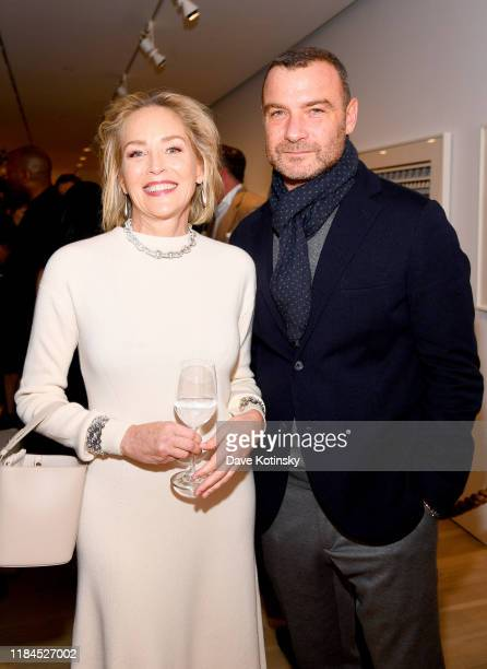 Sharon Stone and Liev Schreiber attend the New York City Film Premier Of Cashmere The Origin Of A Secret with Loro Piana on October 30 2019 in New...