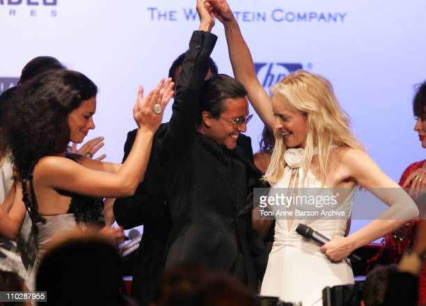 Sharon Stone and Omar Harfouch during amfAR's Cinema Against AIDS Benefit in Cannes, Presented by Bold Films, Palisades Pictures and The Weinstein...