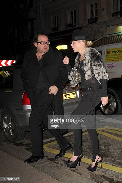 Sharon Stone arrives at Dumont restaurant on January 11 2011 in Paris France