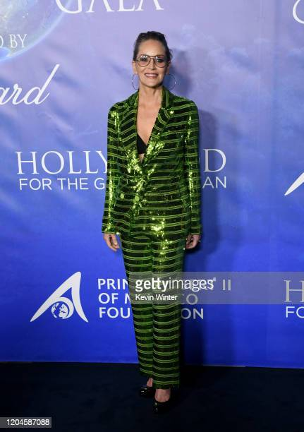 Sharon Stone arrives at the 2020 Hollywood For The Global Ocean Gala Honoring HSH Prince Albert II Of Monaco at Palazzo di Amore on February 06 2020...