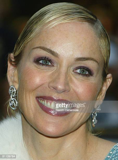 Sharon Stone arrives at the European Premiere of Catwoman at Vue Leicester Square on August 3 2004 in London