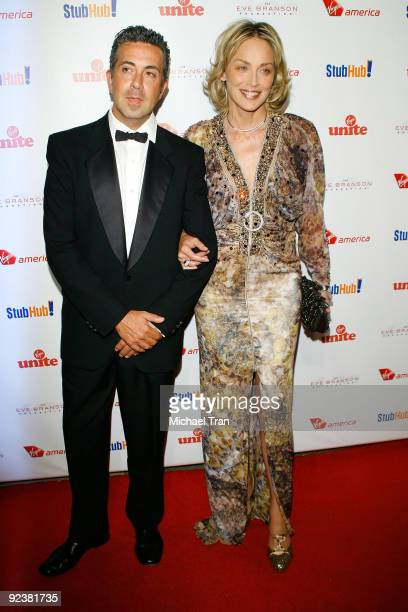 """Sharon Stone arrives to the 3rd Annual """"Rock The Kasbah"""" fundraising gala held at Vibiana on October 26, 2009 in Los Angeles, California."""