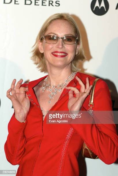 Sharon Stone arriving at amfAr's Cinema against AIDS 2002 benefit gala at Le Moulin de Mougins during the 55th Cannes Film Festival in Cannes,...