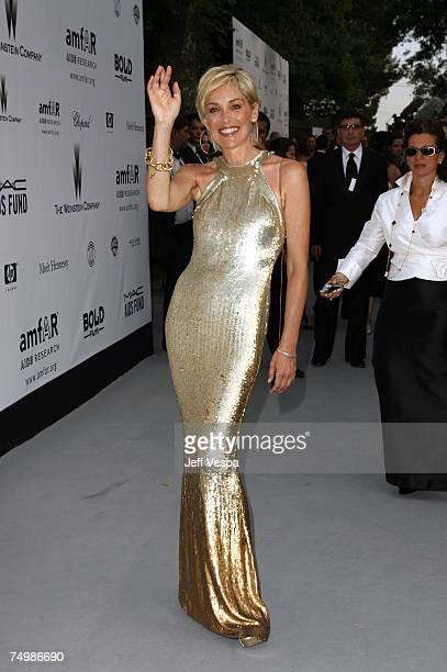 Sharon Stone at amfAR's Cinema Against AIDS event presented by Bold Films the MAC AIDS Fund and The Weinstein Company to benefit amfAR