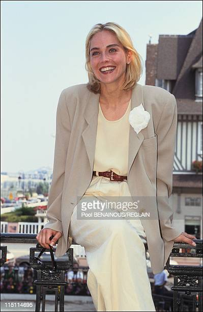 Sharon Stone at Deauville Film Festival in Deauville, France on September 08, 1991.
