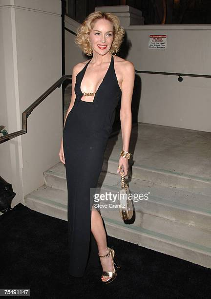 Sharon Stone at the Beverly Hills City Hall in Beverly Hills California