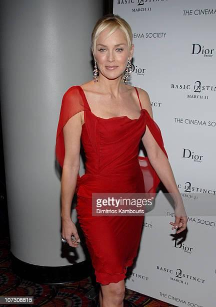 Sharon Stone at the Cinema Society/Dior Beauty premiere of Basic Instinct 2