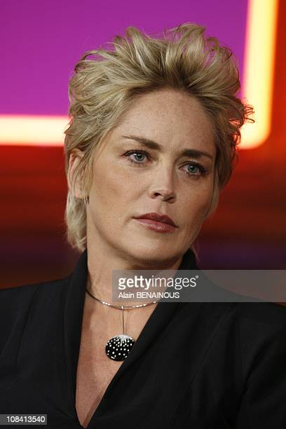 Sharon Stone at the conference cited the success at the university of Sorbonne in Paris France on April 06th 2008
